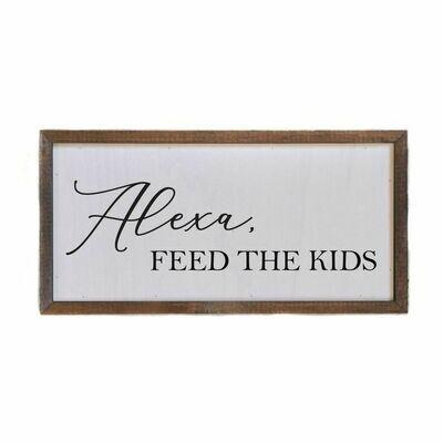 Box Sign; Alexa, Feed The Kids