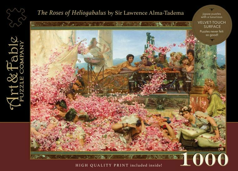 The Roses of Heliogabalus; 1000 piece Velvet-Touch Jigsaw Puzzle