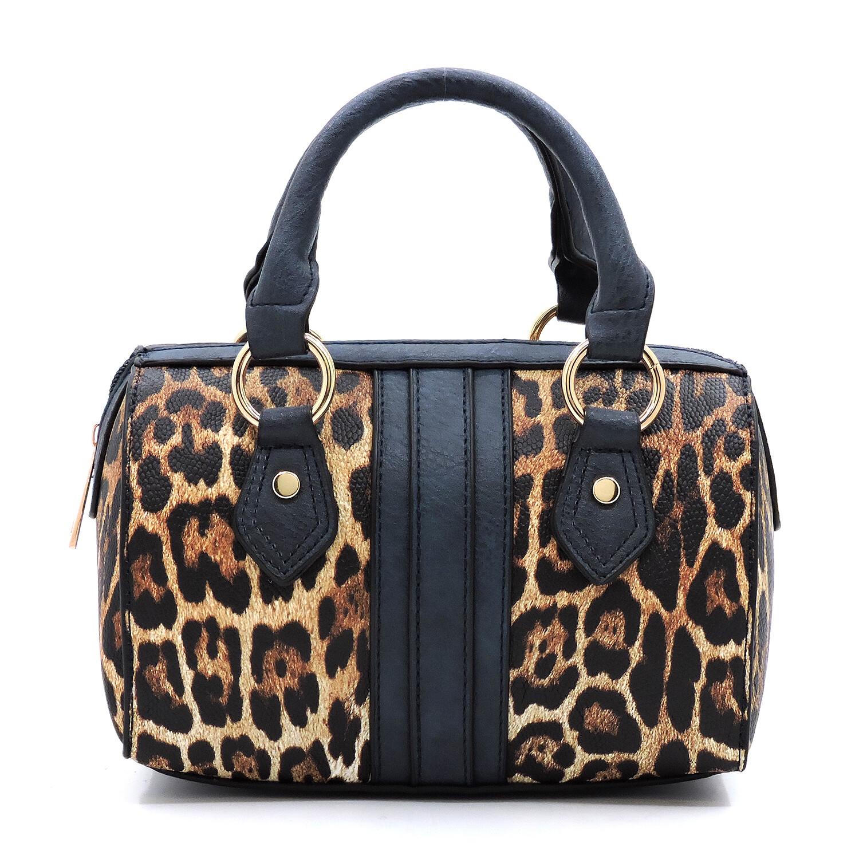 Leopard/navy Handbag