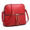 Fashion Tassel Zip Dome Crossbody Bag; red