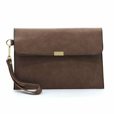 Brown/Gold Clutch