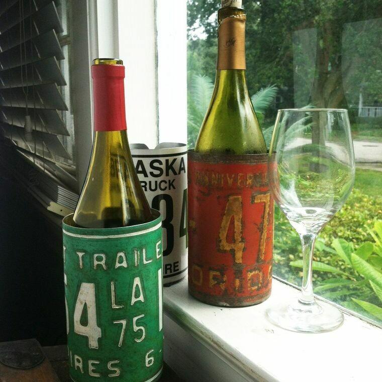 License Plate Wine Koozie; various ND, SD, MN