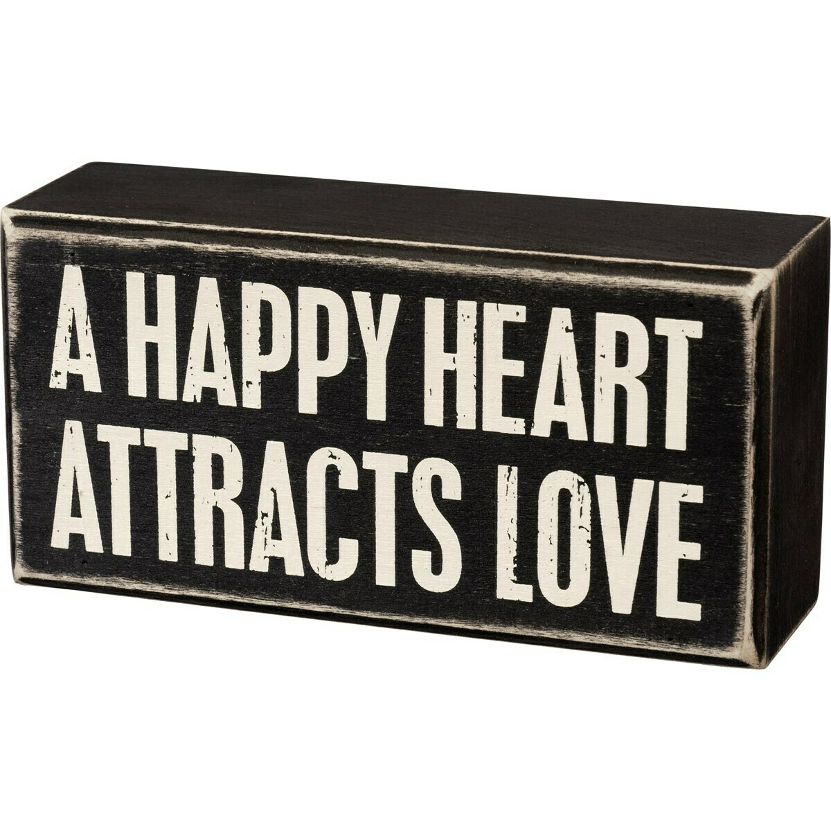 Box Sign; Heart attracts love