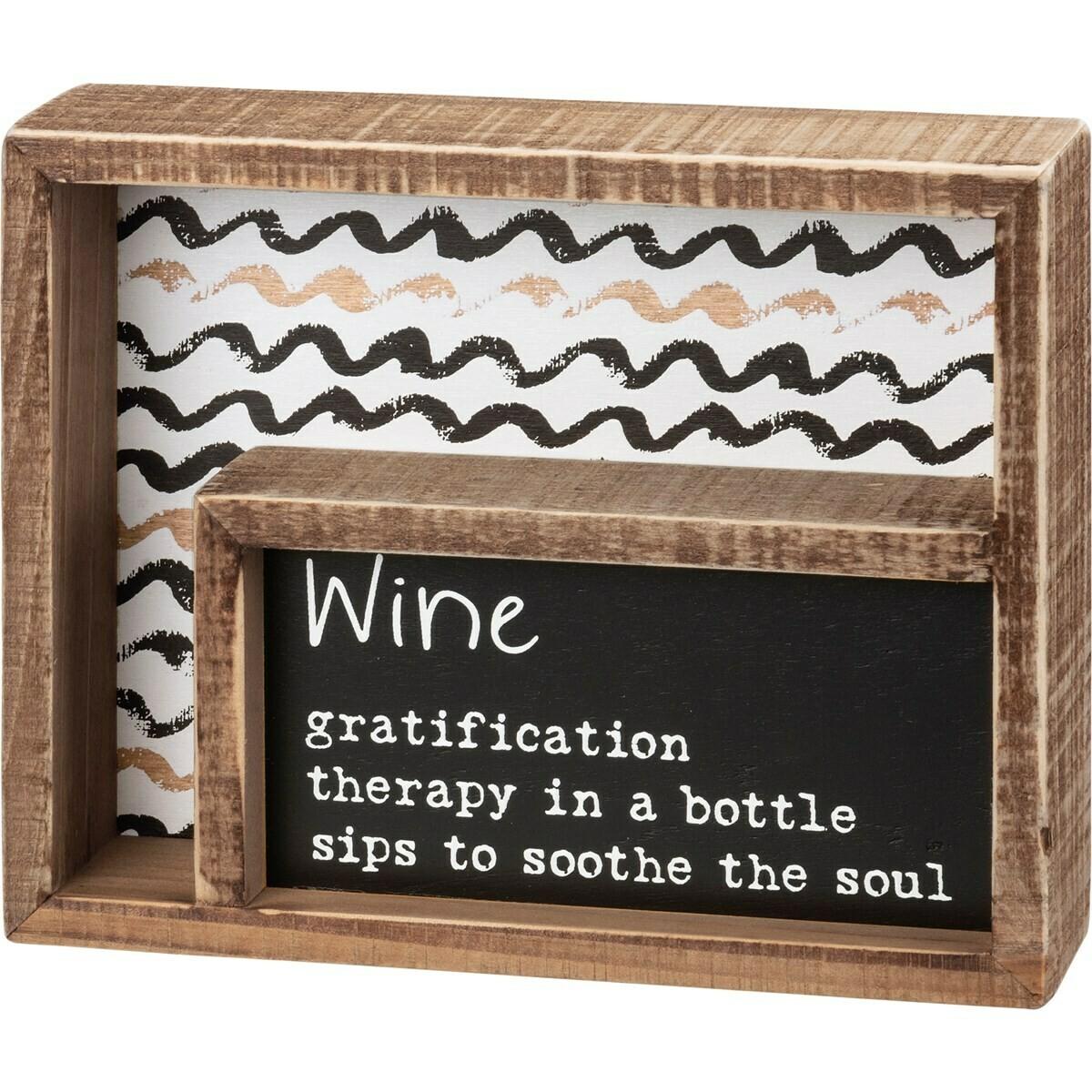 Inset Box Sign; Wine