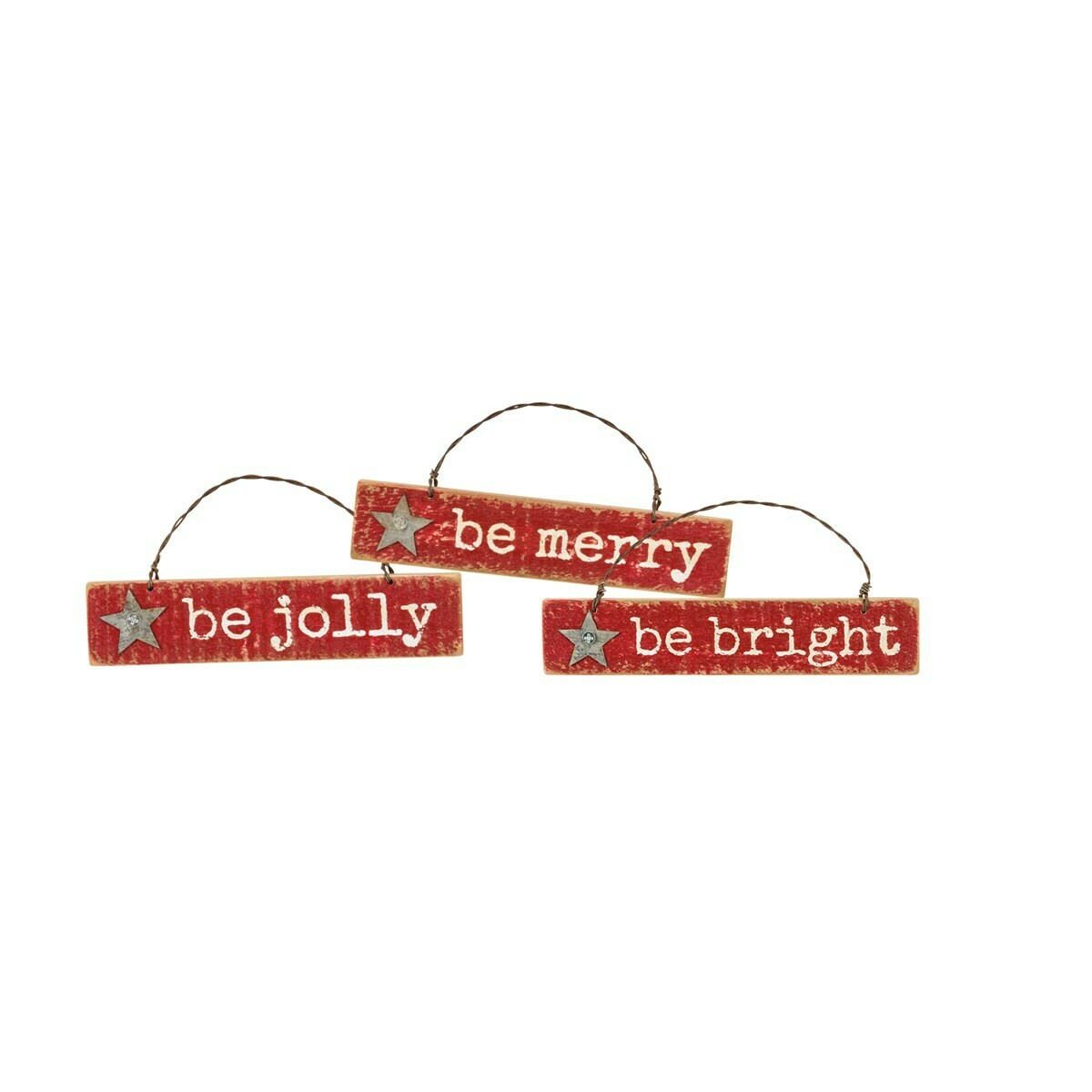 Christmas Ornament Set; Be Jolly