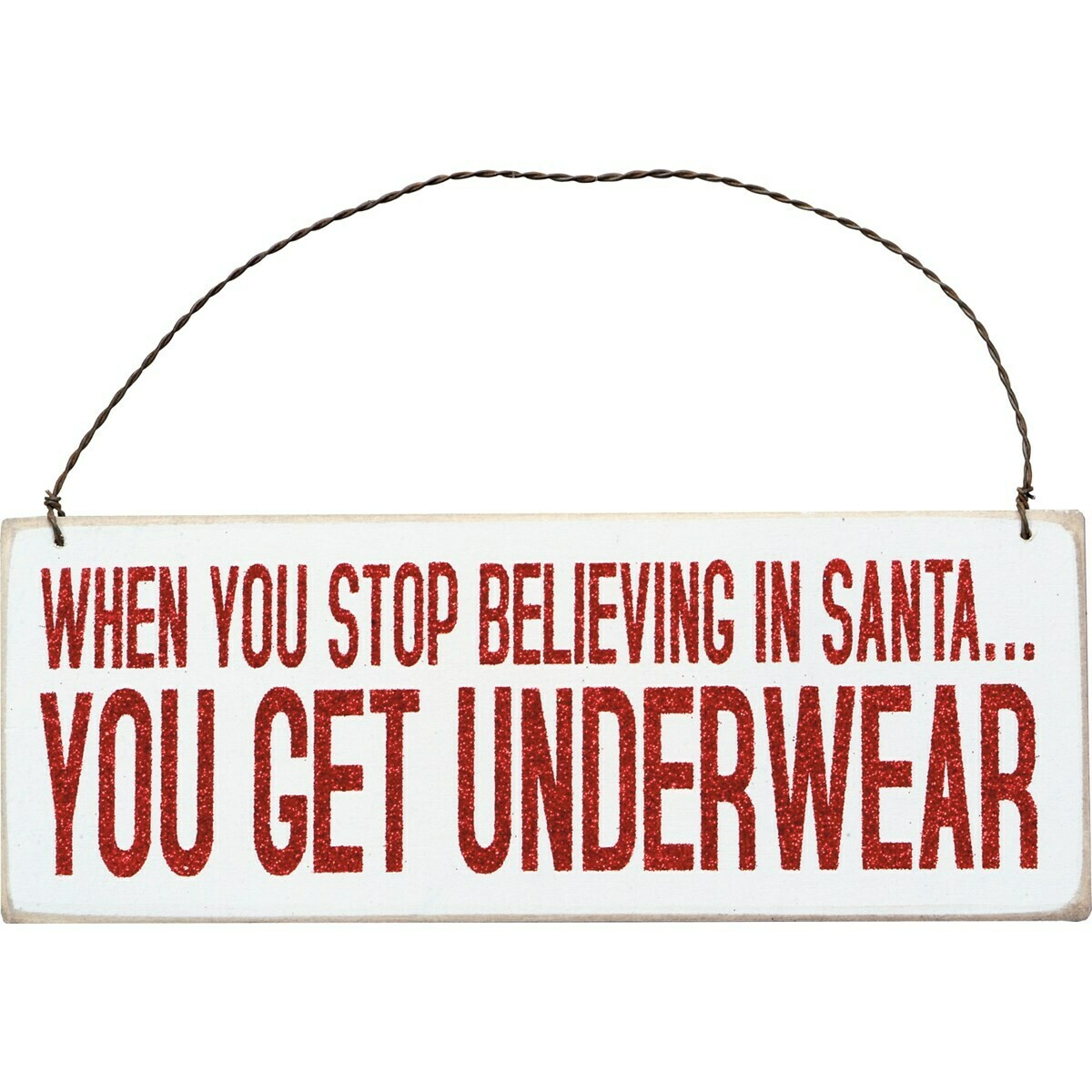 Christmas Hanging Sign; Underwear