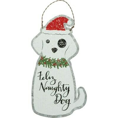 Feliz Naughty Dog Ornament