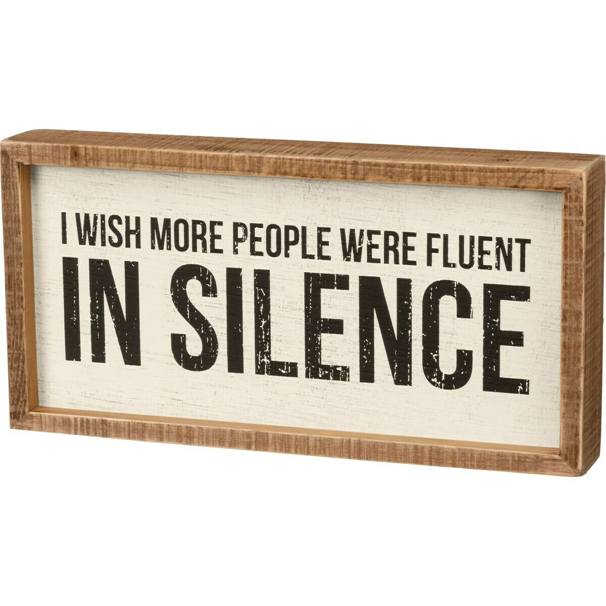 Inset Box sign; silence
