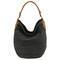 Black stitch-stripe hobo bag