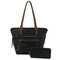 Black 2 in 1 shopper bag