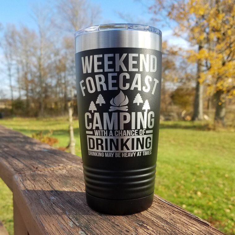Weekend Forecast Camping with Heavy Drinking