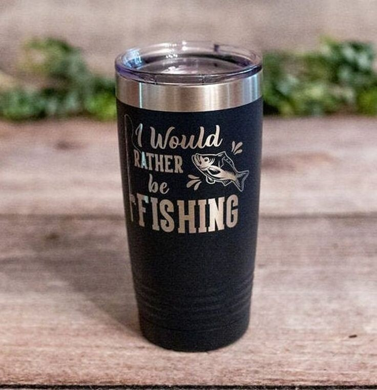 I Would Rather be Fishing Engraved Tumbler