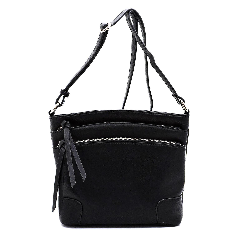 Black 3 zipper bag