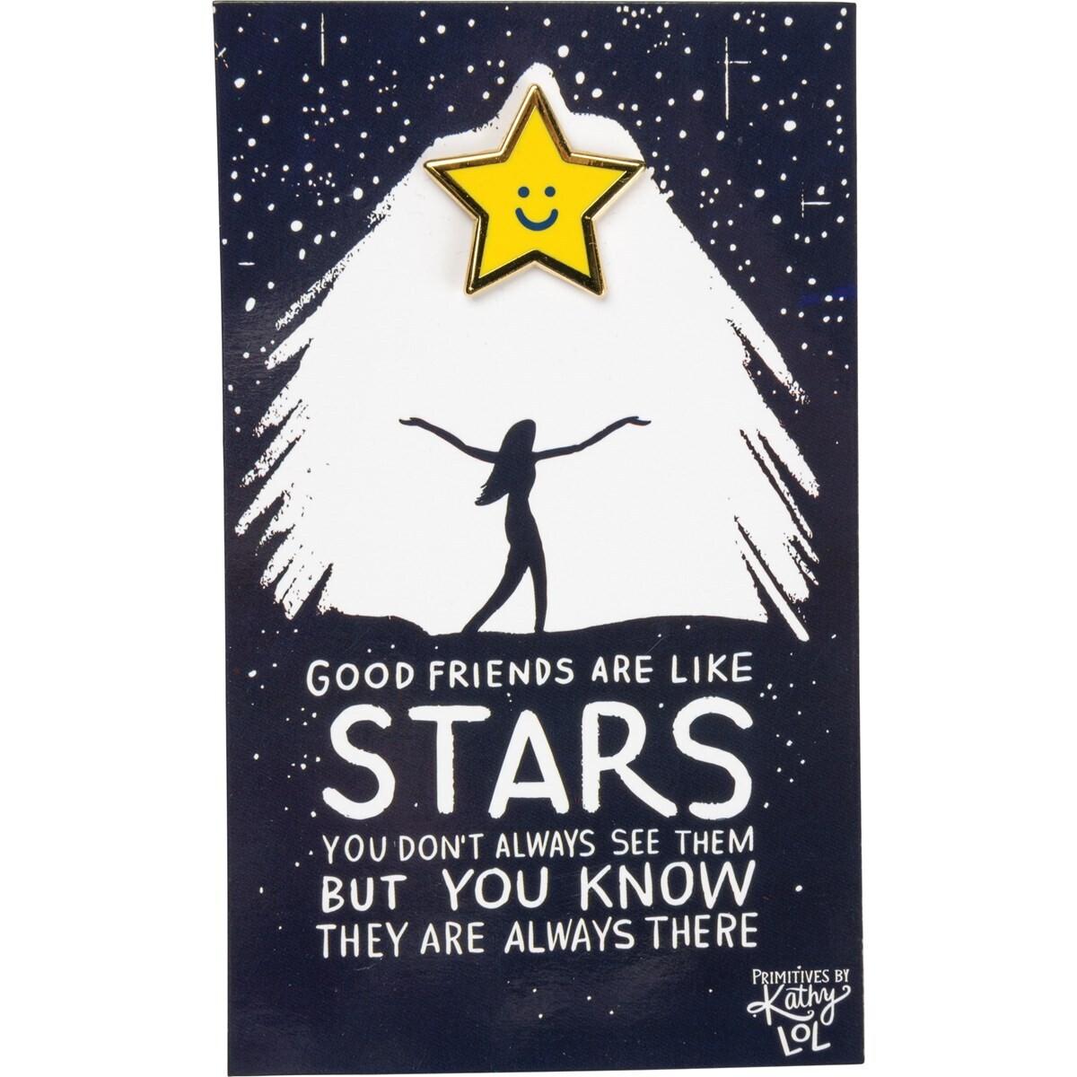 Enamel Pin; good friends are like stars