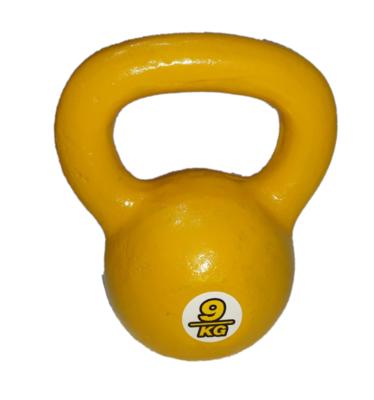 Kettlebell pesa rusa de fundición de 9 kg