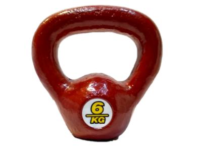 Kettlebell pesa rusa de fundición de 6 kg
