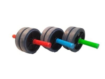 Rueda para trabajo de abdominales y dorsales de colores DOBLE