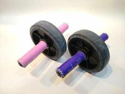 Rueda para trabajo de abdominales y dorsales- puño de cuerina de colores! SIMPLE