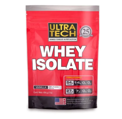 Whey Protein isolate Ultratech x 454gr