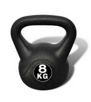 Kettlebell pesa rusa 8kg pvc importada
