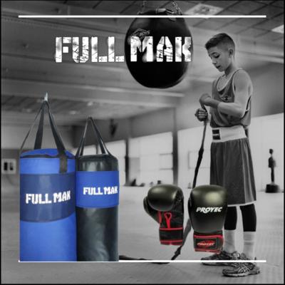 Kit boxeo 2: Bolsa De Boxeo Profesional De Lona 1mt rellena + Guantes Box Con Abrojo Magnum