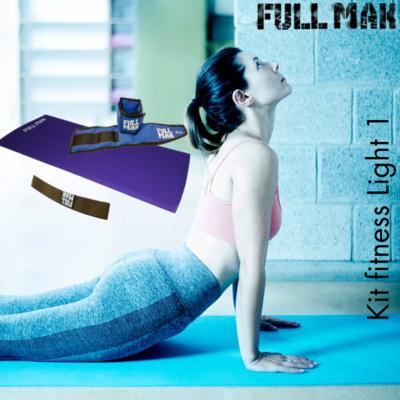 Kit light 1: Colchoneta de 2cm de polietileno + par de tobilleras de 1kg + banda elástica tensión baja