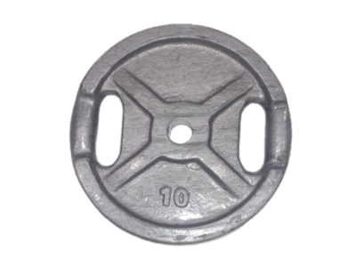 Disco de fundición de 10 kg pintura horneada. diámetro 30 mm. por unidad