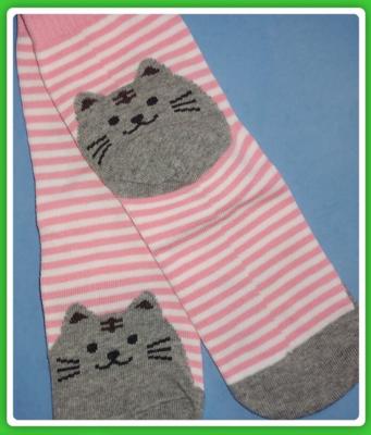 Pink Cat Socks