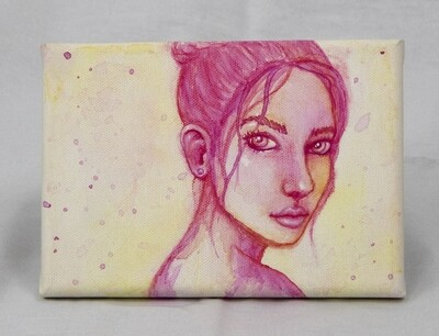 Magenta Girl Canvas Art
