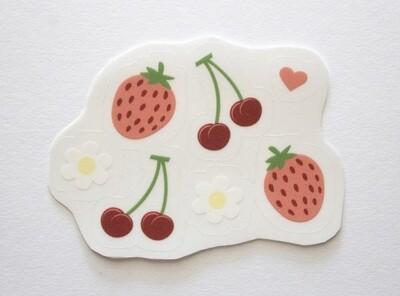 Strawberry Cherry Sticker Sheet