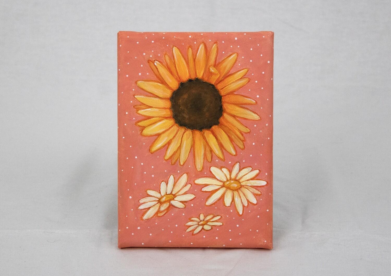 Sunflower & Daisy Canvas Art