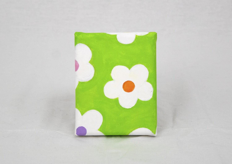 Mod Green Floral Canvas Art