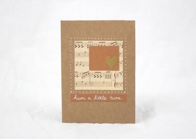 Hum a Tune Handmade Card