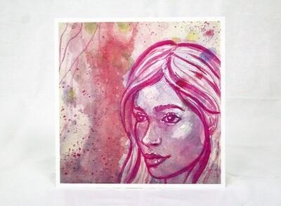 Fuchsia Girl Limited Edition Print