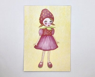 Strawberry Girl Limited Edition Print