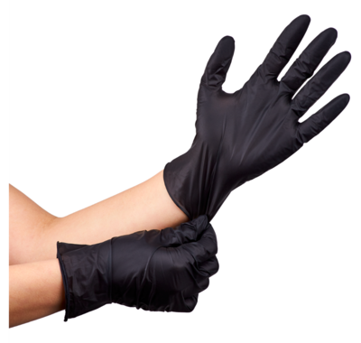 Karat Nitrile Powder-Free Gloves (Black) - Small - 100 ct