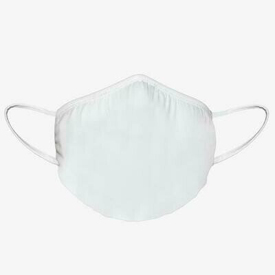 Pack of 3PCS Washable Face Mask with Antimicrobial Protection - White - Unisex