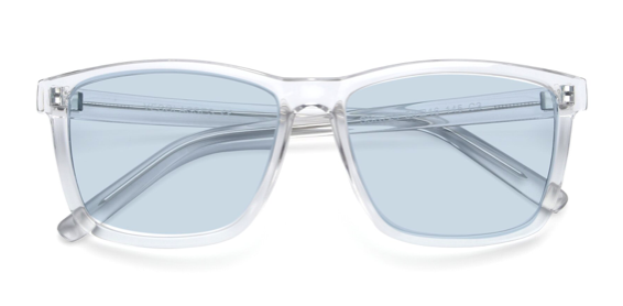 Clear Oversized Grandpa Square Tinted Sunglasses