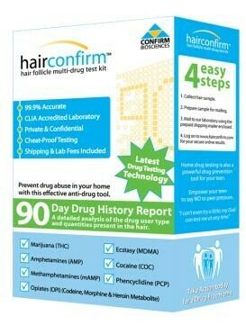 Hair Confirm Hair Drug Test kits By:HAIR CONFIRM