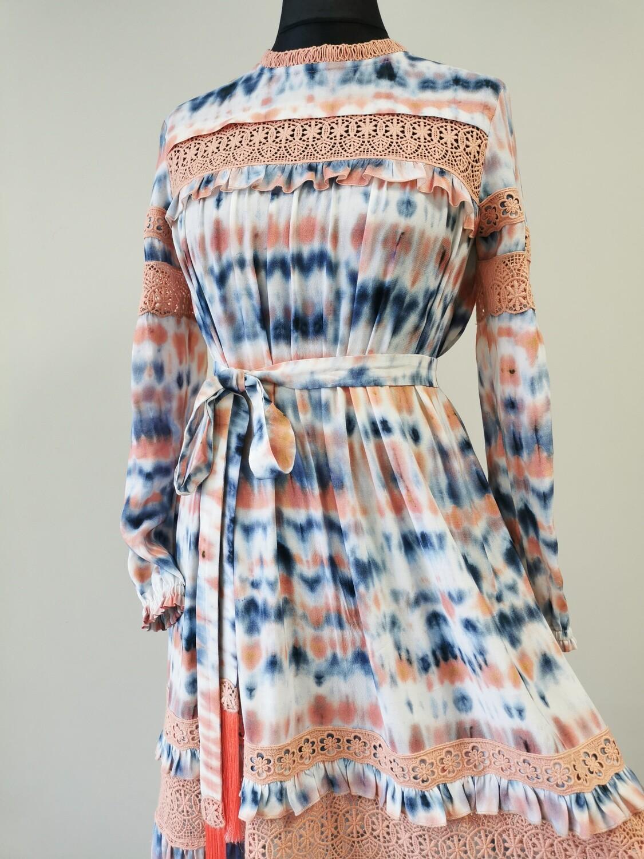 BOHO stiliaus suknelė su nėriniais