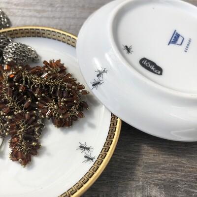 """Minischälchen """"Ameisen"""" aus Porzellan, zum Aufbewahren von kleinen Schönheiten"""