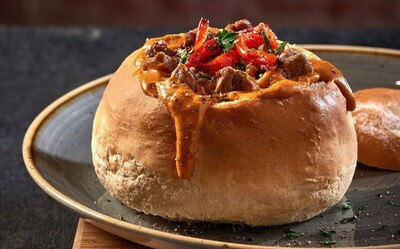 Philly Cheese Steak Cow Chow