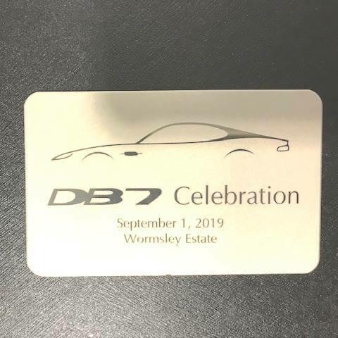DB7 Celebration Plaque