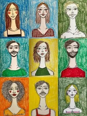 retratos tortos //