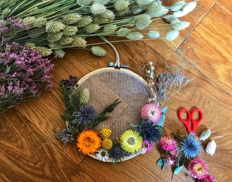 Atelier Tambour fleuri / 2h