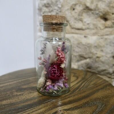 Flacon de fleurs séchées (VENDU)
