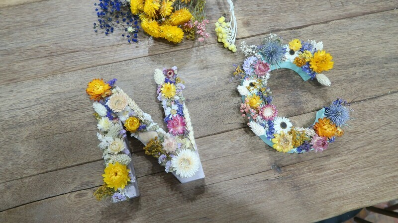 Atelier Lettre en fleurs séchées parent/enfant 2H