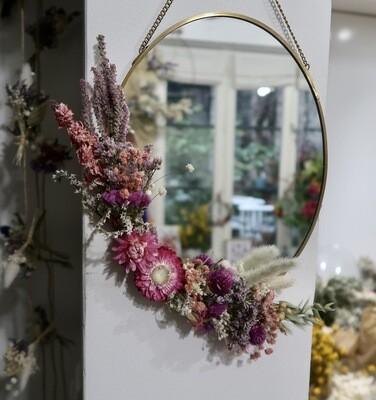 Miroir fleuri en laiton Rome