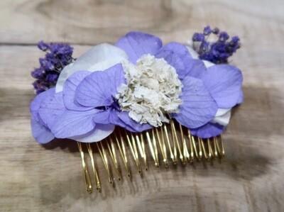 Peigne fleuri Parme