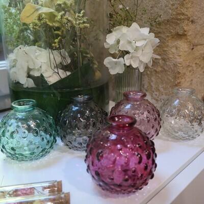 Vases boules motifs
